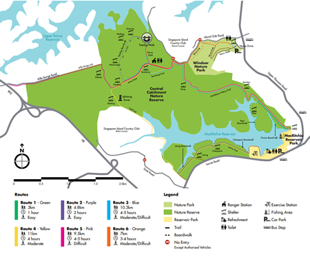 MAcRitchie Reservior Map