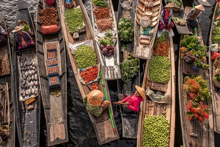 10 Things to do in Thailand - Floating Market Thailand