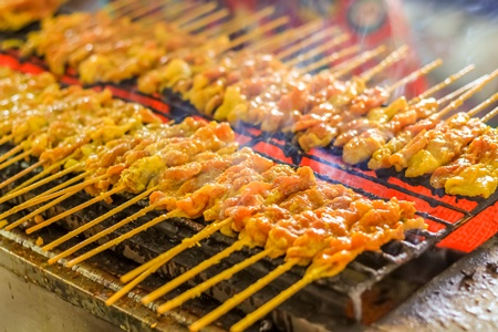 Cost of Living in Thailand - Grilled Pork Satays (Thai style)
